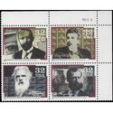 #3061-3064 32c Pioneers of Communication Plate Block of 4 1996 Mint NH