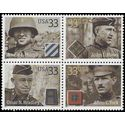 #3393-3396 33c Distinguished Soldiers Block/4 2000 Mint NH