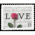 #3551 57c Love Issue  2001 Mint NH