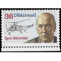 Scott C119 36c US Air Mail Igor Sikorsky 1988 Mint NH