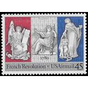 Scott C120 45c US Air Mail French Revolution Bicentennial 1989 Mint NH