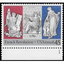 Scott C120 45c US Air Mail French Revolution Bicentennial P# 1989 Mint NH