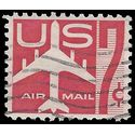 Scott C 60 7c US Airmail Silhouette of Jet Airliner 1960 used