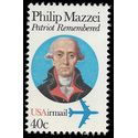Scott C 98 40c US Air Mail Phillip Mazzei 1980 Mint NH