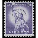 #1035 3c Liberty Issue Statue of Liberty 1954 Used