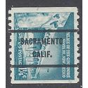 #1054a 1.25c Liberty Issue Palace of the Governors Coil Single 1960 Used Precancel