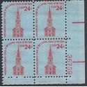 #1603 24c Old North Church, Boston PB/4 1975 Mint NH
