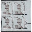 #1604 28c Americana Issue Fort Nisqually Washington PB/4 1978 MInt NH