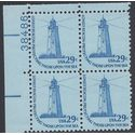 #1605 29c Americana Issue Sandy Hook Lighthouse PB/4 1978 Mint NH