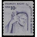 #1617 10c Contemplation of Justice Coil Single 1977 Mint NH
