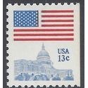 #1623 13c Flag Over Capital Booklet Single 11x10.5 1977 Mint NH