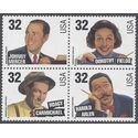 #3100-3103 32c American Songwriters Block/4 1996 Mint NH
