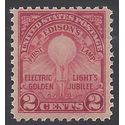 # 654 2c Edison's First Lamp 1929 Mint NH