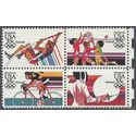 Scott C109-C112 35c US Air Mail 1984 Summer Olympics Block/4 1983 Mint NH