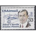 Scott C113 33c Aviation Pioneers Alfred V. Verville 1985 Mint NH