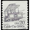 #2263 20c Cable Car 1880s Coil Single 1988 Used