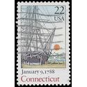 #2340 22c Constitution Bicentennial-Connecticut 1988 Used