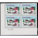 #2400 25c Christmas One Horse Open Sleigh PB/4 1988 Mint NH