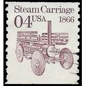 #2451 4c Steam Carriage 1866 Coil Single 1991 Used
