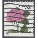 #2492 32c Pink Roses Booklet Single 1995 Used