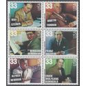 #3339-3344 33c Hollywood Composers Block of 6 1999 Mint NH