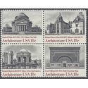 #1928-1931 18c American Architecture Block/4 1981 Mint NH