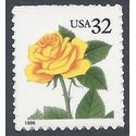 #3049 32c Yellow Rose Booklet Single 1996 Mint NH