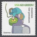 #4524p (44c Forever) Go Green Maintain Tire Pressure 2011 Mint NH