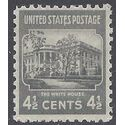 # 809 4 1/2c Presidential Issue The White House 1938 Mint NH