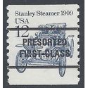 #2132a 12c Stanley Steamer 1909 Precancel Coil Single 1985 Mint NH