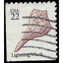 #2121 22c Seashells Lightning Whelk Booklet Single 1985 Used