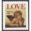#3030 32c Love Issue Cherub Booklet Single 1996 Mint NH
