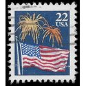 #2276 22c Flag and Fireworks 1987 Used